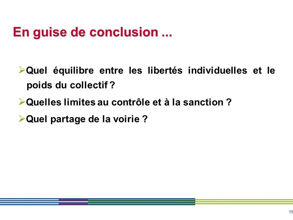 En guise de conclusion ... Quel équilibre entre les libertés individuelles et le poids du collectif