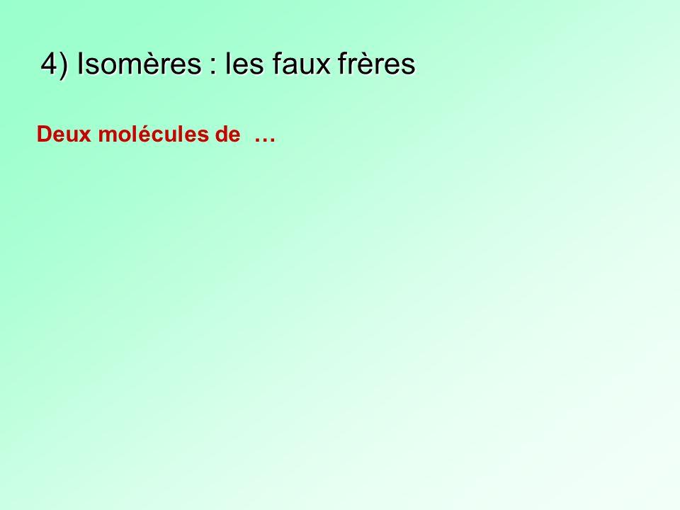 4) Isomères : les faux frères