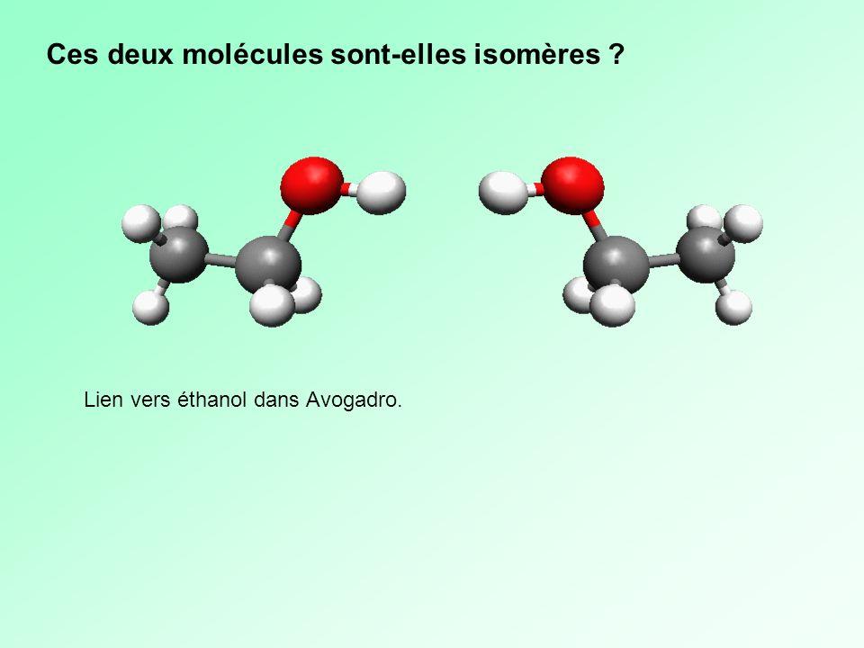 Ces deux molécules sont-elles isomères