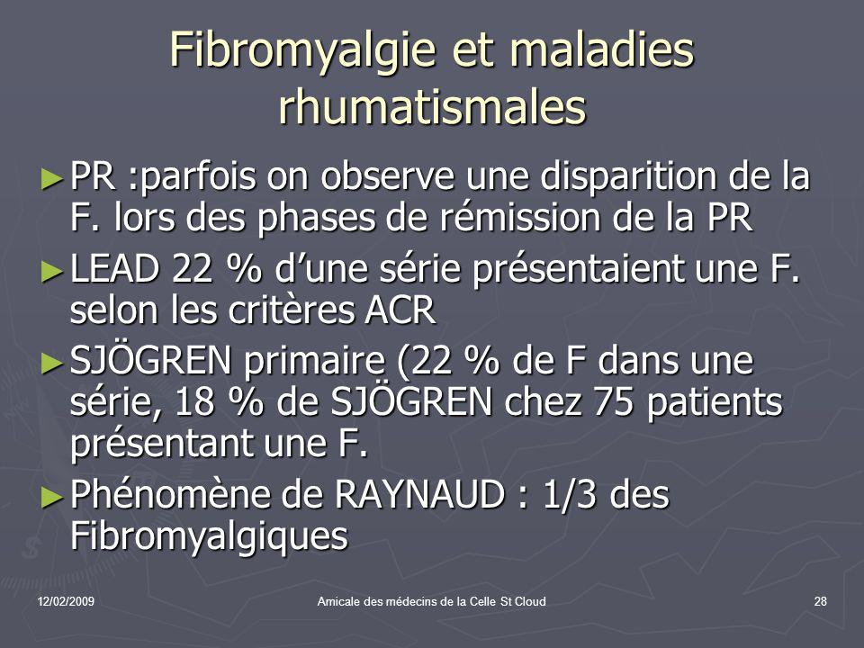 Fibromyalgie et maladies rhumatismales