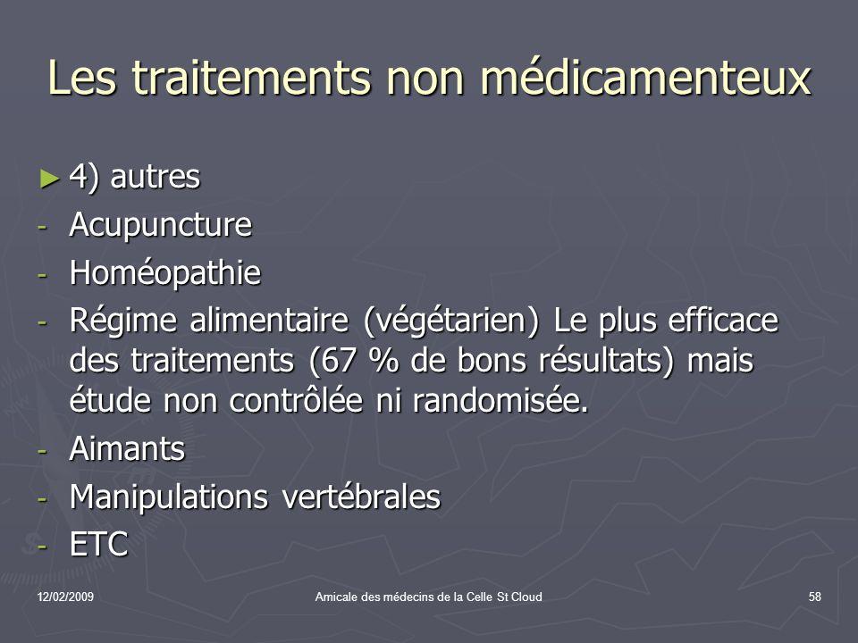 Les traitements non médicamenteux