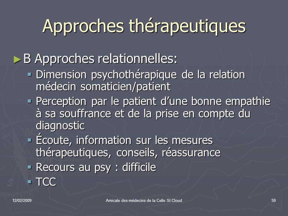 Approches thérapeutiques