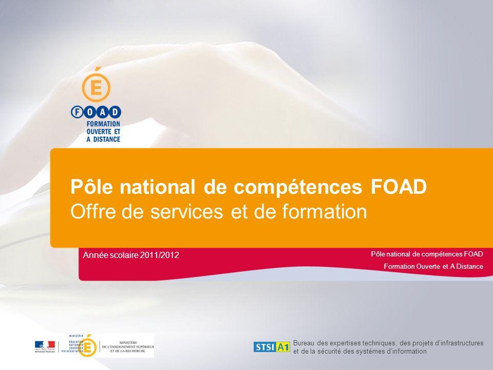 Pôle national de compétences FOAD Offre de services et de formation