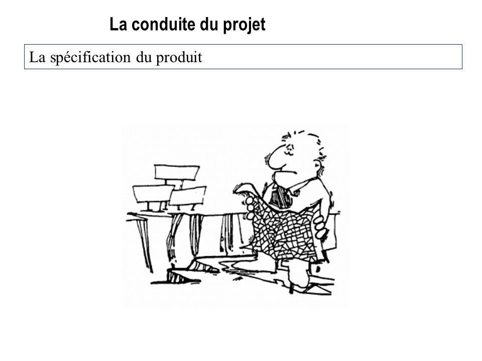 25/03/2017 La conduite du projet La spécification du produit