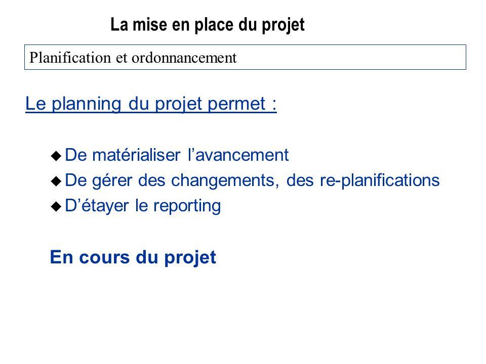 La mise en place du projet