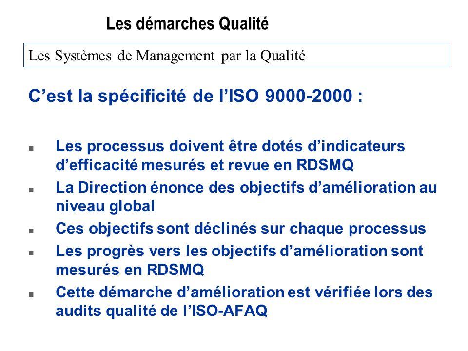C'est la spécificité de l'ISO 9000-2000 :