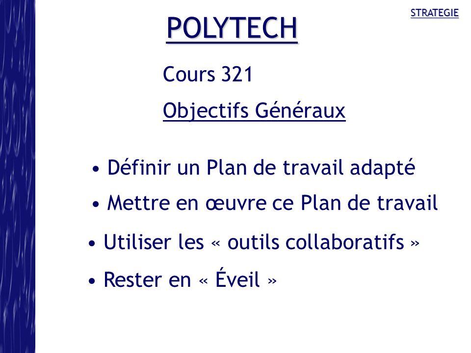 POLYTECH Cours 321 Objectifs Généraux