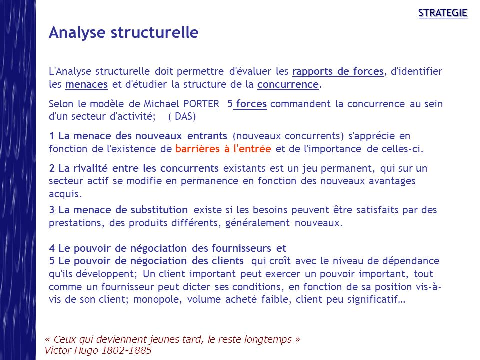 Analyse structurelle STRATEGIE