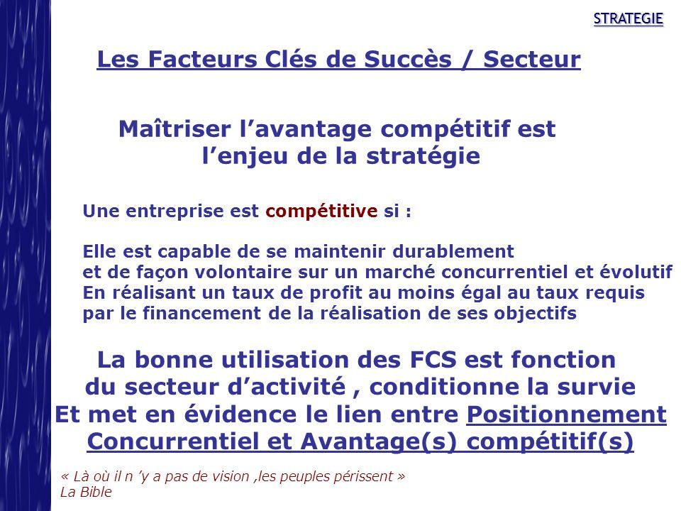 Les Facteurs Clés de Succès / Secteur
