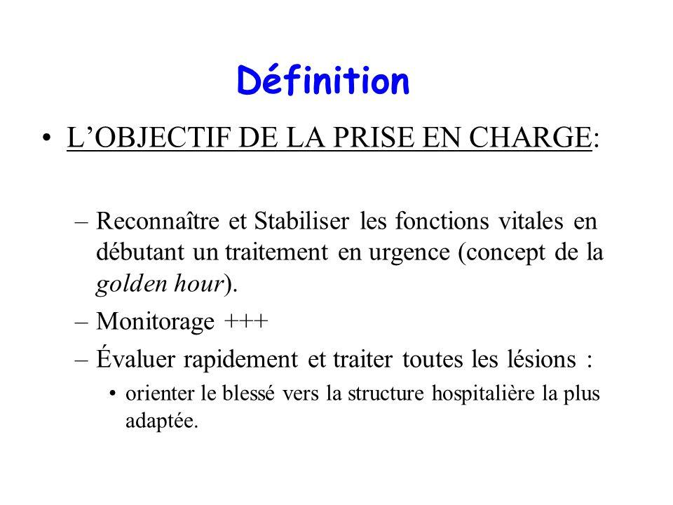 Définition L'OBJECTIF DE LA PRISE EN CHARGE: