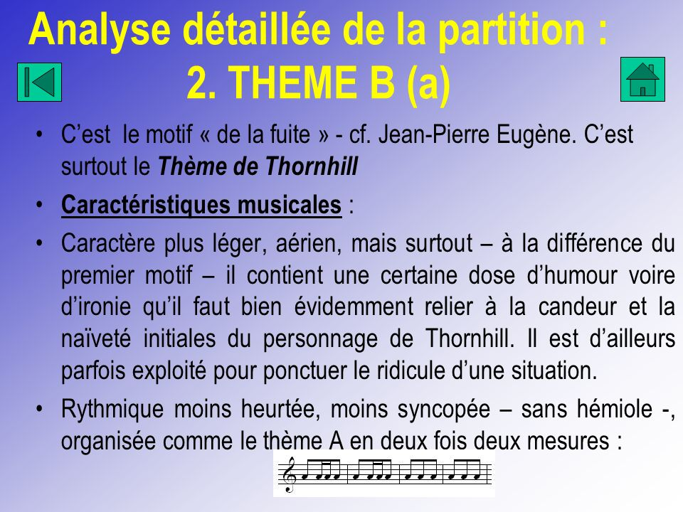 Analyse détaillée de la partition : 2. THEME B (a)