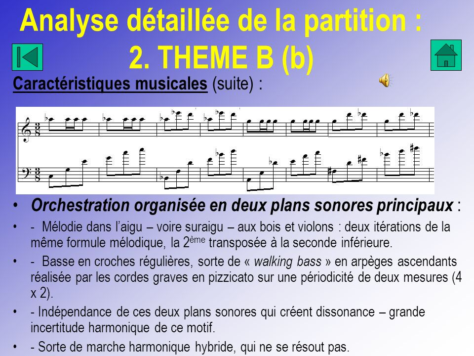Analyse détaillée de la partition : 2. THEME B (b)