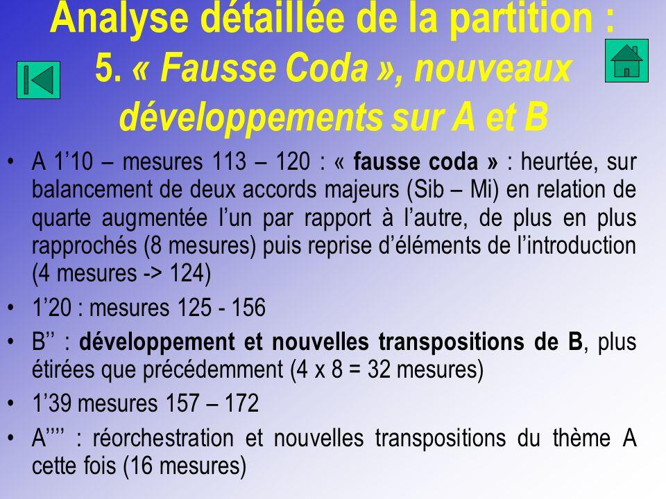 Analyse détaillée de la partition : 5