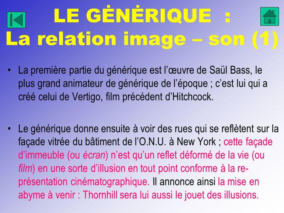 LE GĖNĖRIQUE : La relation image – son (1)