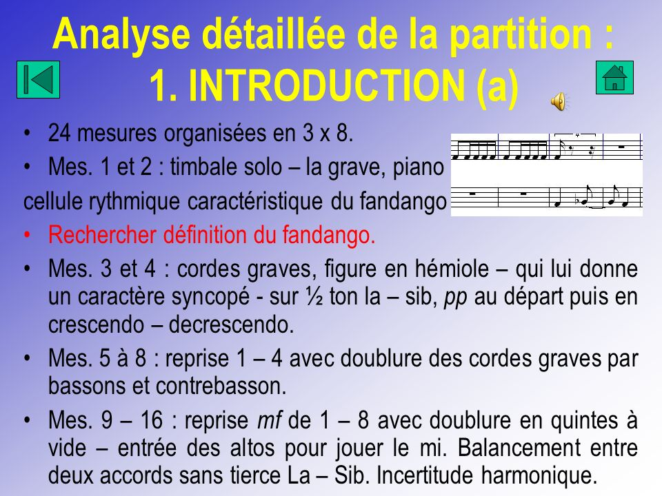 Analyse détaillée de la partition : 1. INTRODUCTION (a)