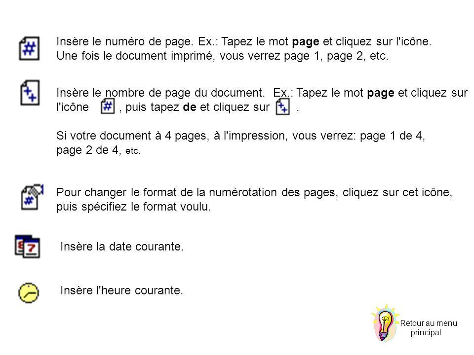 Une fois le document imprimé, vous verrez page 1, page 2, etc.