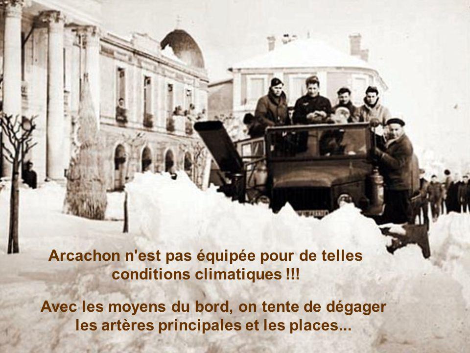 Arcachon n est pas équipée pour de telles conditions climatiques !!!