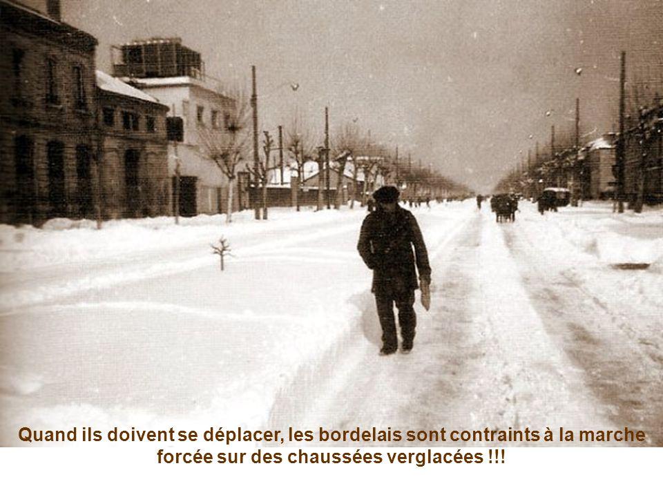 Quand ils doivent se déplacer, les bordelais sont contraints à la marche forcée sur des chaussées verglacées !!!