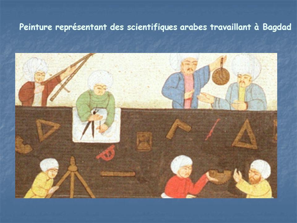 Peinture représentant des scientifiques arabes travaillant à Bagdad