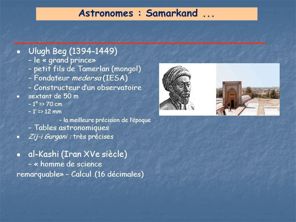 Astronomes : Samarkand ...