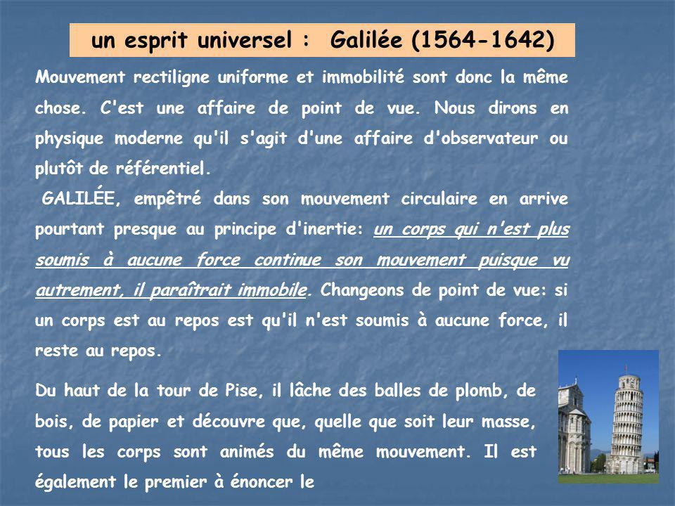 un esprit universel : Galilée (1564-1642)