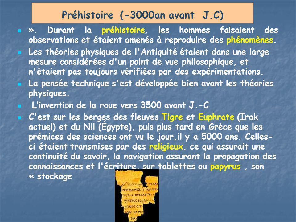 Préhistoire (-3000an avant J.C)