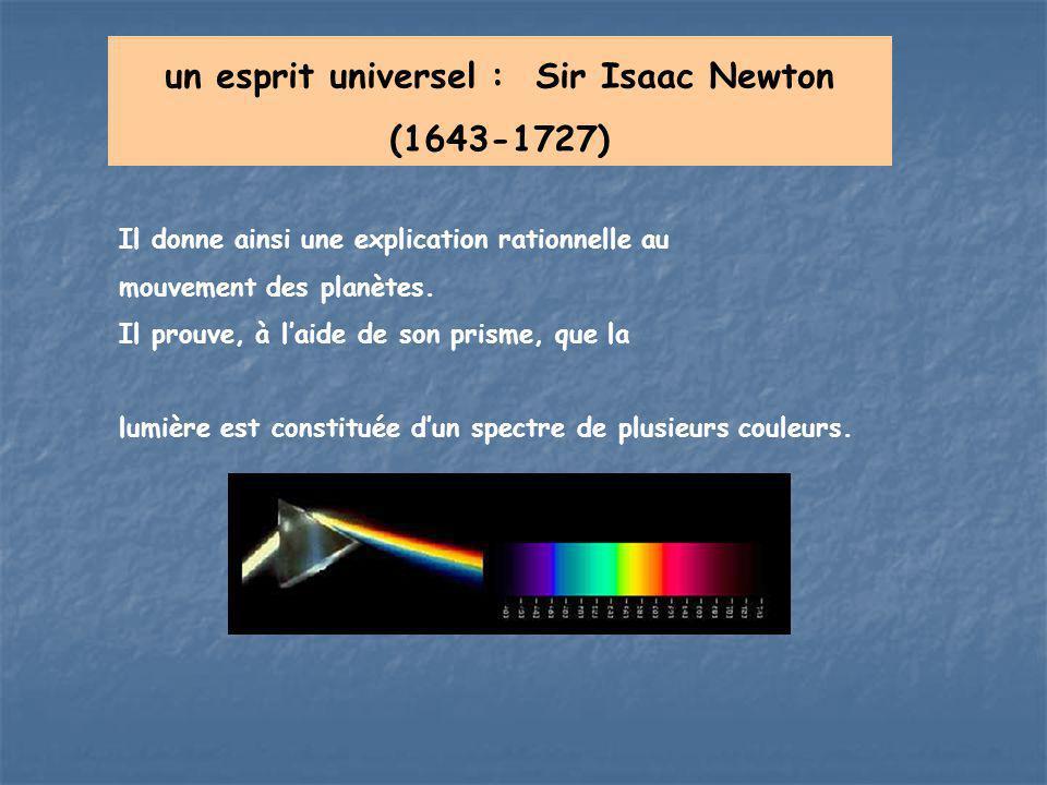 un esprit universel : Sir Isaac Newton (1643-1727)