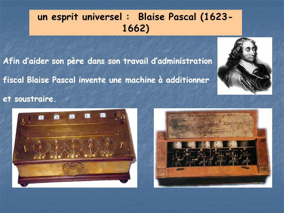 un esprit universel : Blaise Pascal (1623-1662)