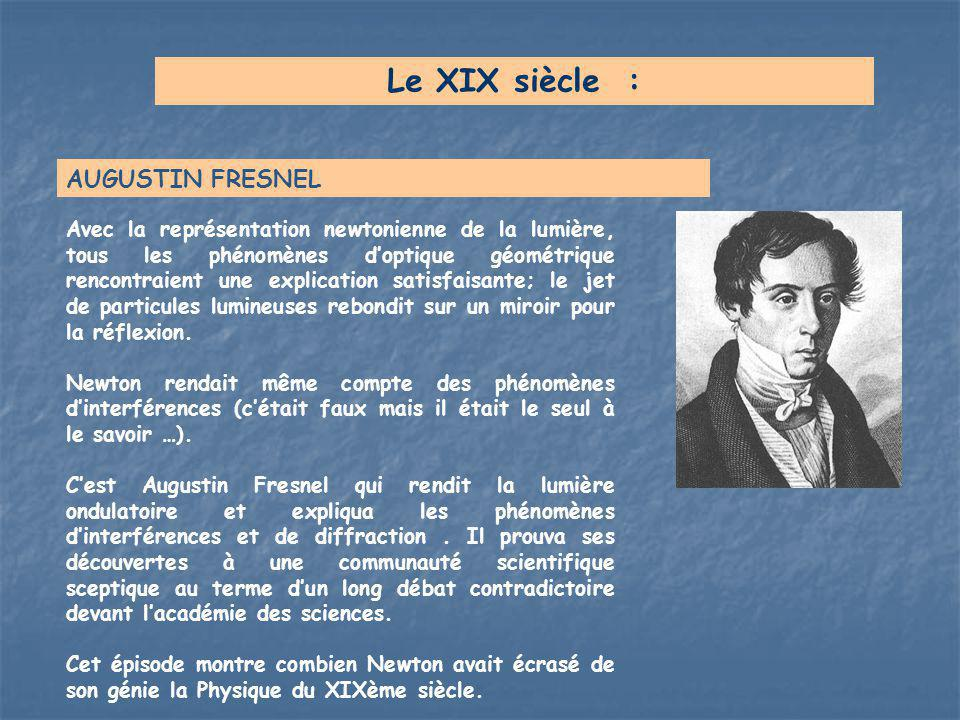 Le XIX siècle : AUGUSTIN FRESNEL