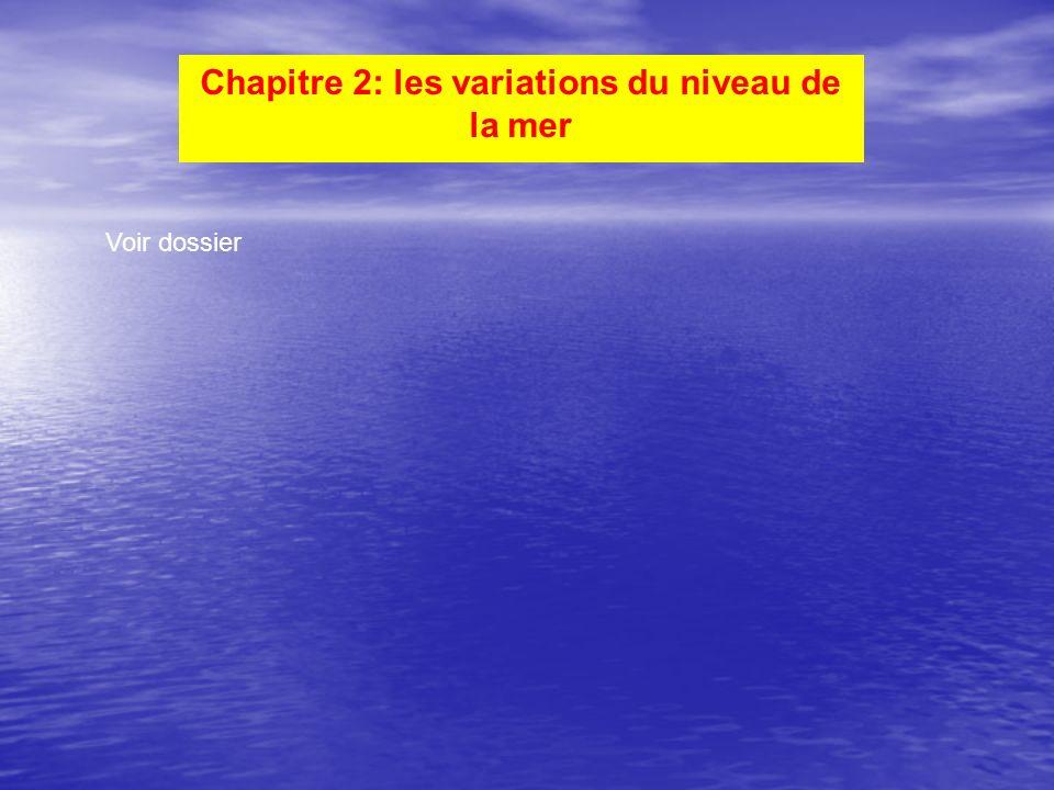 Chapitre 2: les variations du niveau de la mer