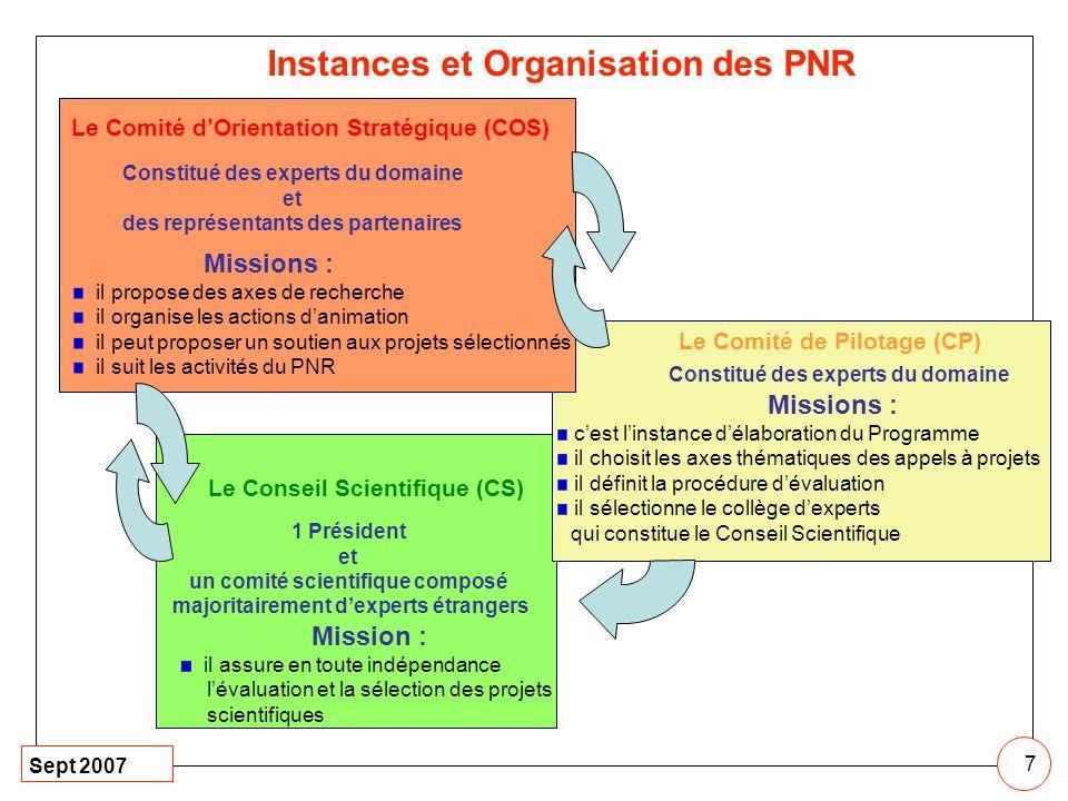 Instances et Organisation des PNR
