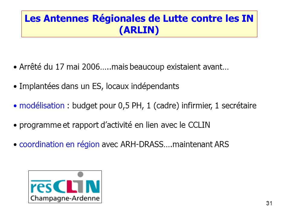Les Antennes Régionales de Lutte contre les IN