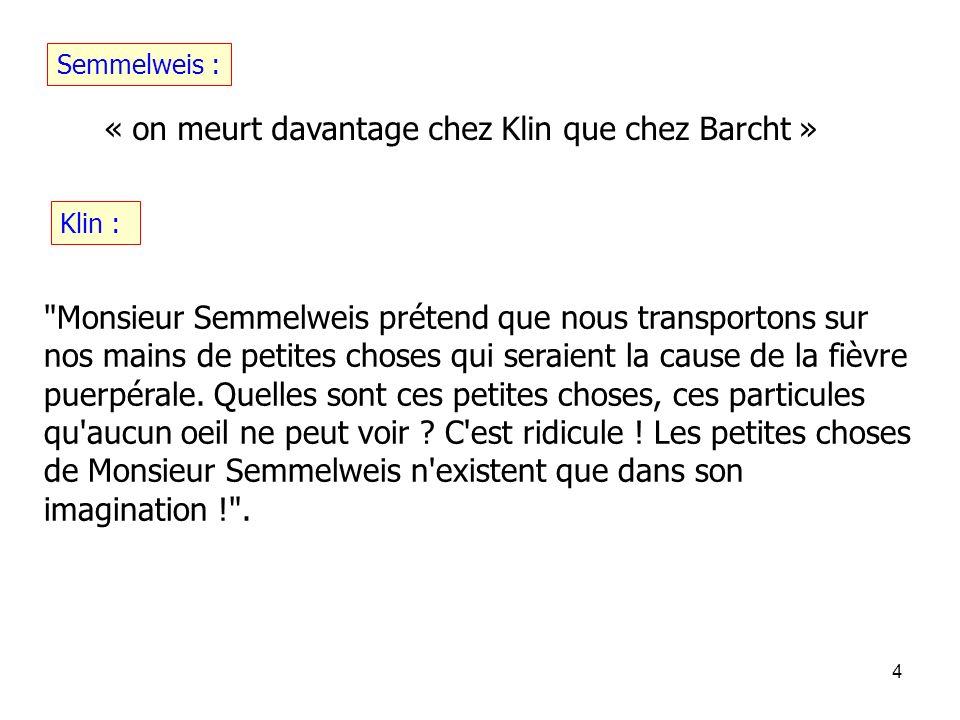 « on meurt davantage chez Klin que chez Barcht »