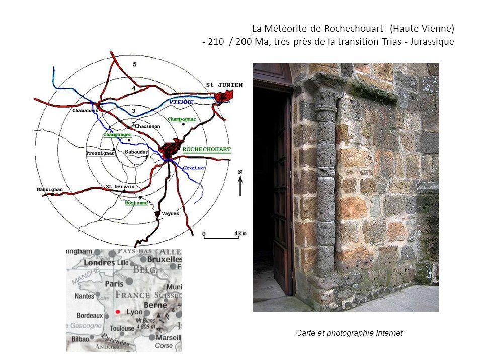 La Météorite de Rochechouart (Haute Vienne) - 210 / 200 Ma, très près de la transition Trias - Jurassique
