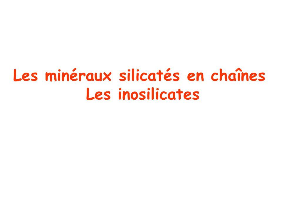 Les minéraux silicatés en chaînes