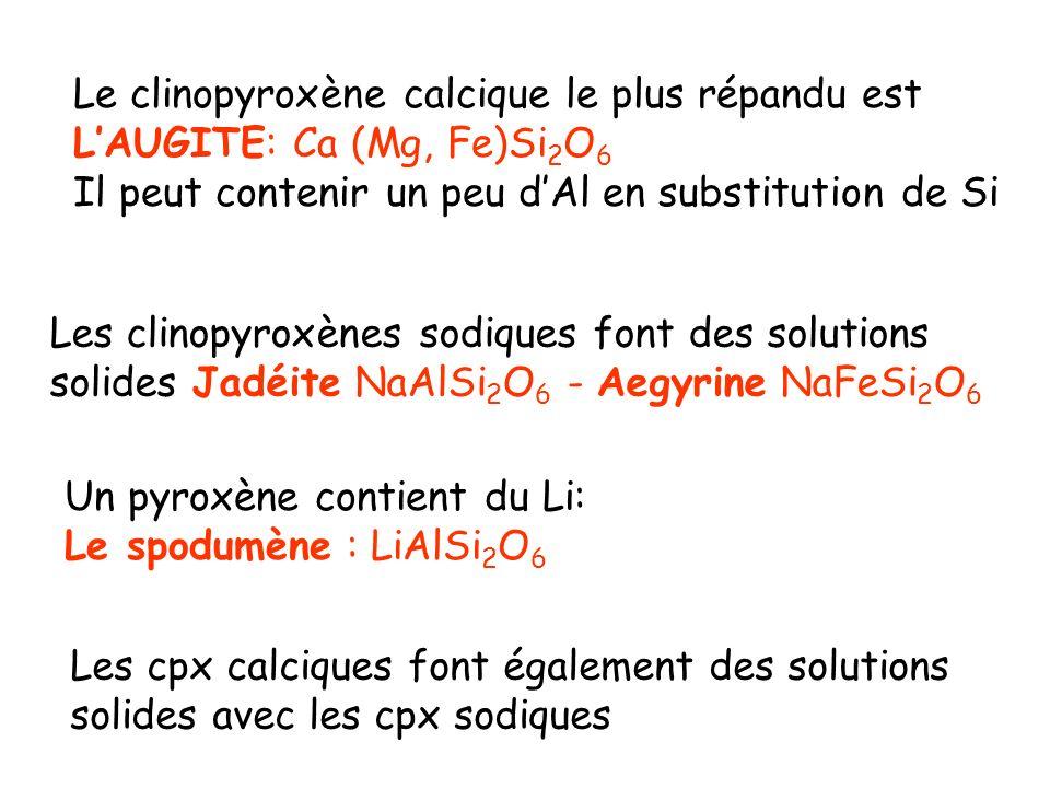 Le clinopyroxène calcique le plus répandu est