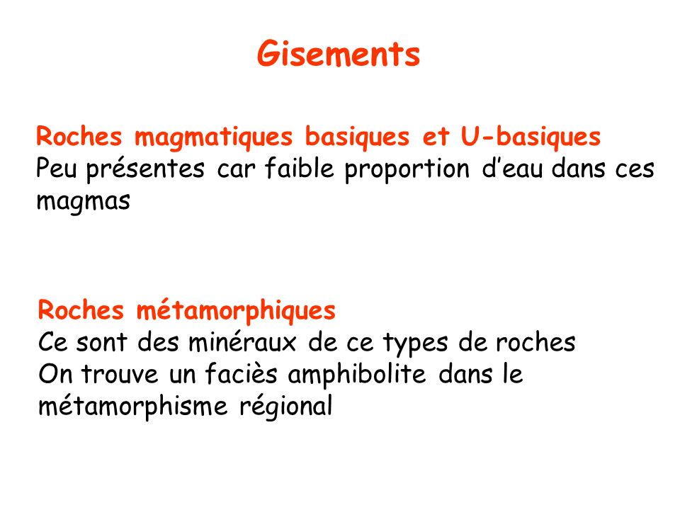 Gisements Roches magmatiques basiques et U-basiques