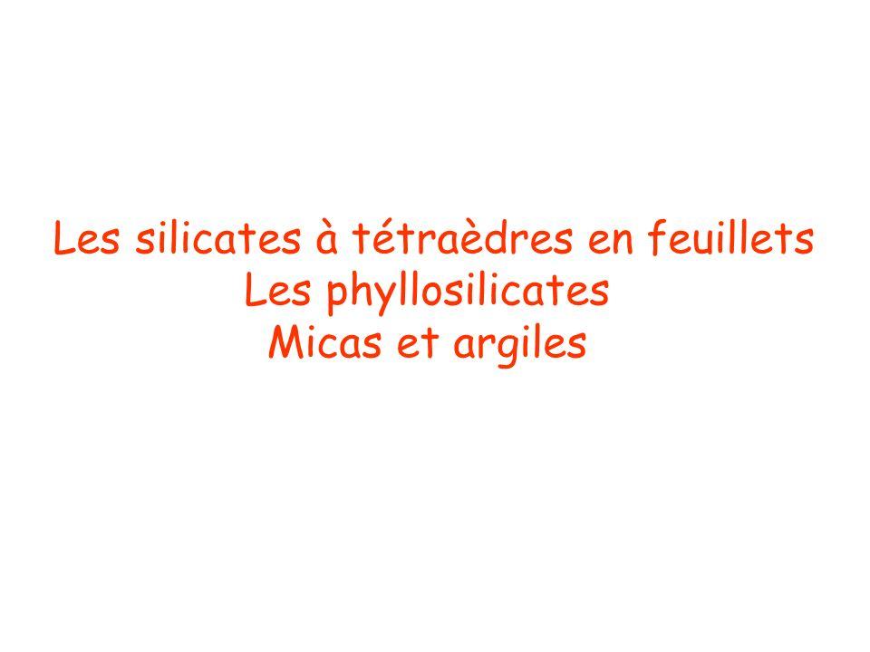 Les silicates à tétraèdres en feuillets