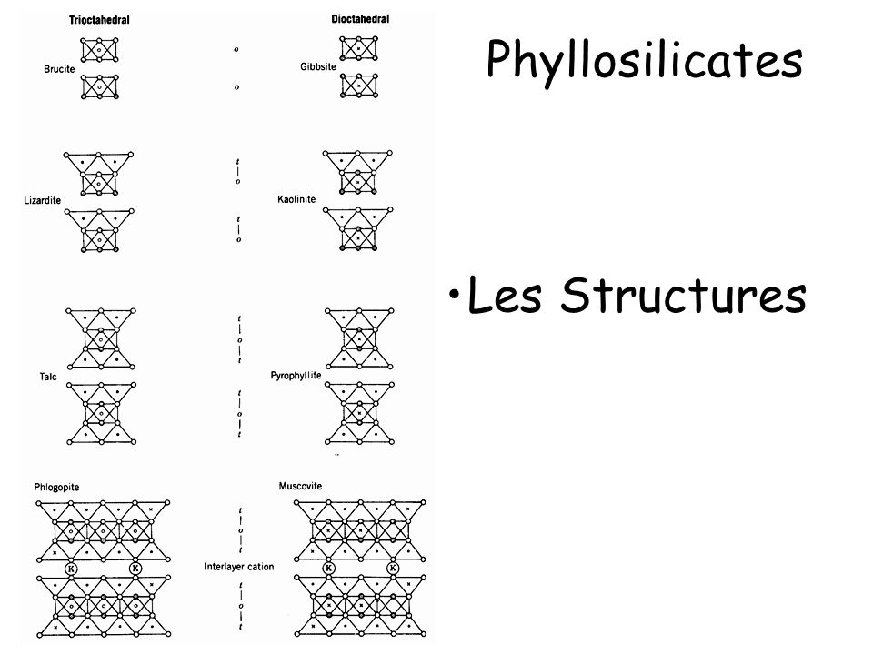 Phyllosilicates Les Structures