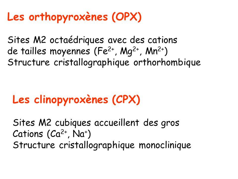 Les orthopyroxènes (OPX)