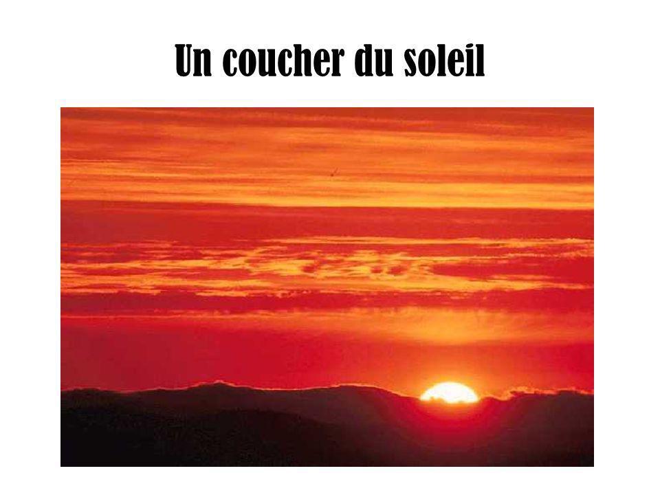 Un coucher du soleil