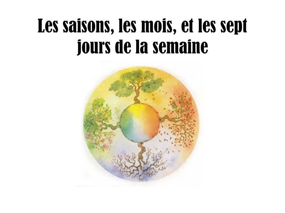 Les saisons, les mois, et les sept jours de la semaine