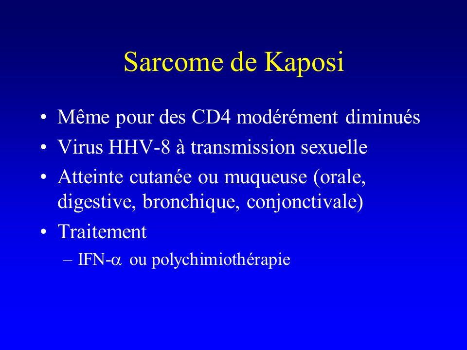 Sarcome de Kaposi Même pour des CD4 modérément diminués