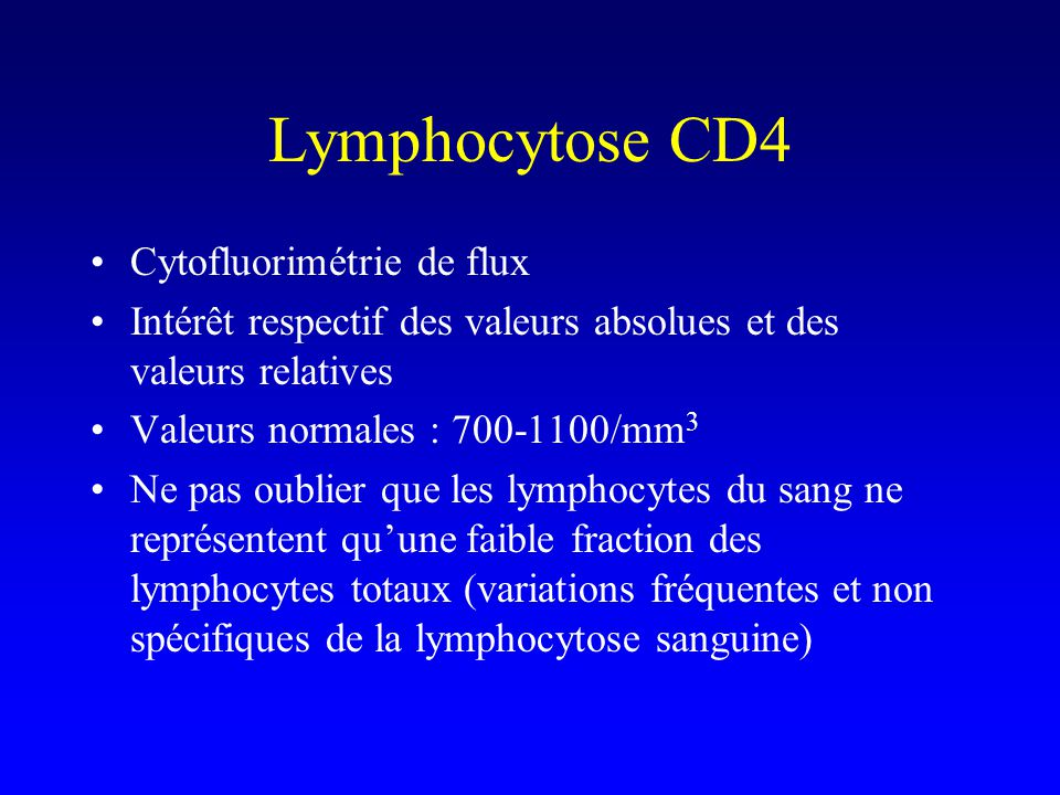 Lymphocytose CD4 Cytofluorimétrie de flux