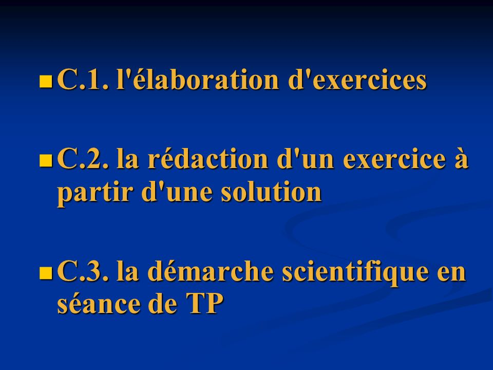 C.1. l élaboration d exercices