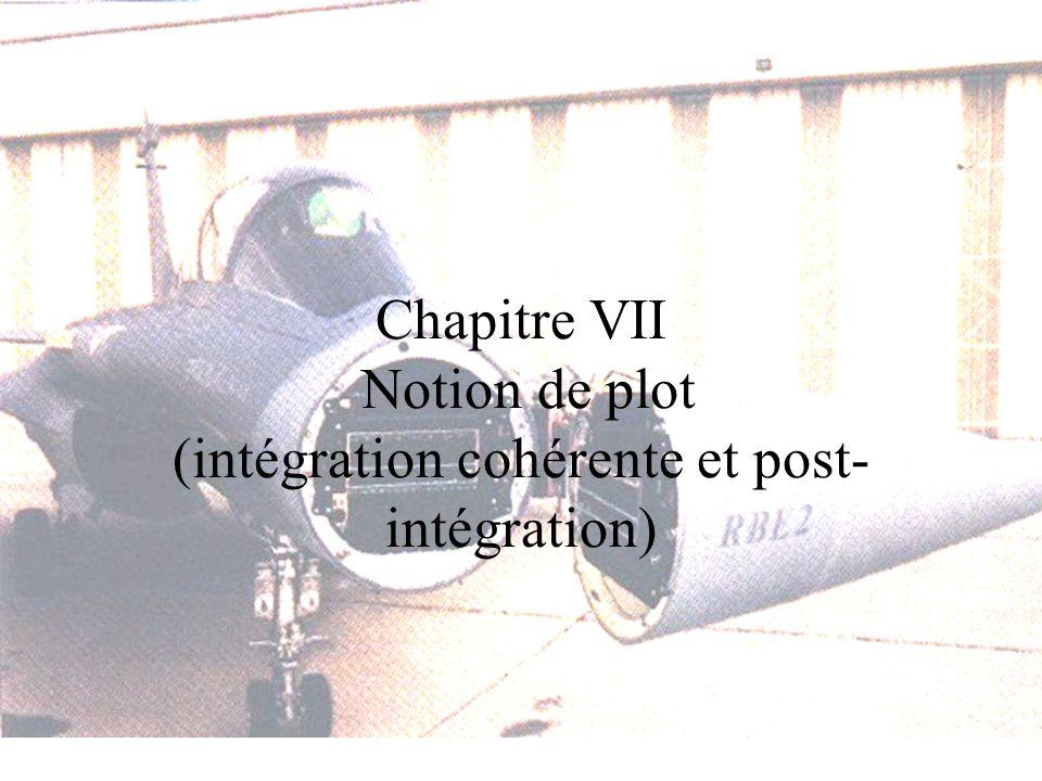 Chapitre VII Notion de plot (intégration cohérente et post-intégration)