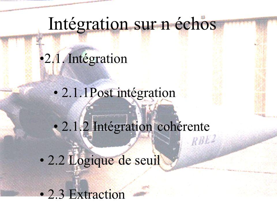 Intégration sur n échos