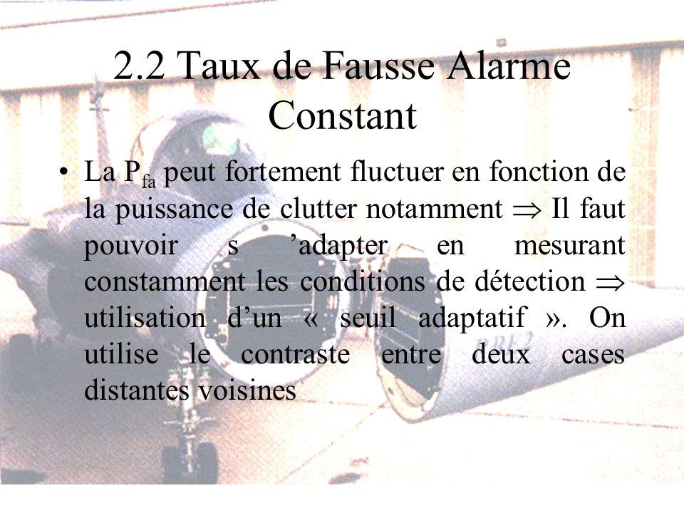 2.2 Taux de Fausse Alarme Constant