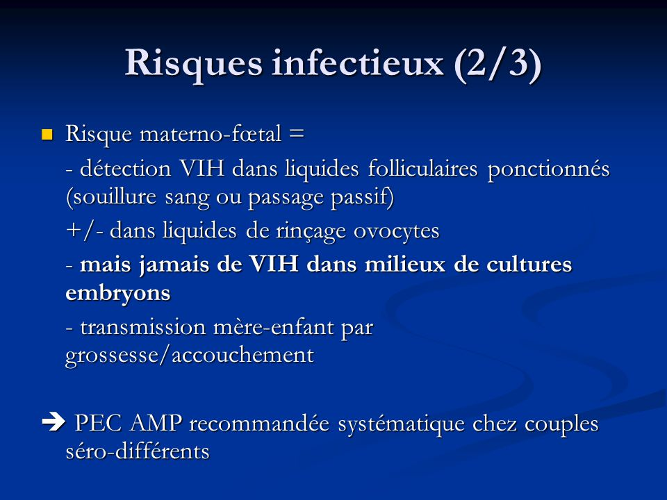 Risques infectieux (2/3)