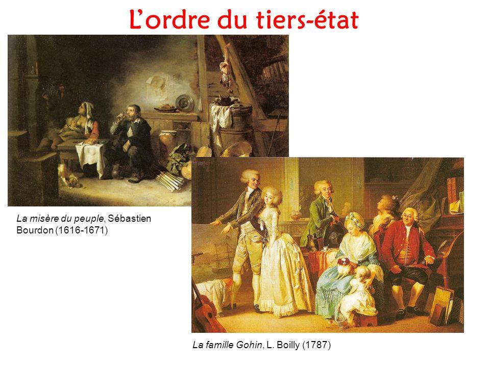 L'ordre du tiers-état La misère du peuple, Sébastien Bourdon (1616-1671) La famille Gohin, L.